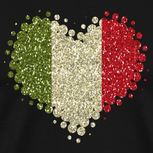I love Italy - Home Tradition Pride glitter - Men's Premium T-Shirt