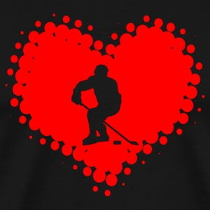 I love hockey - ice hockey winter sports ice puck - Men's Premium T-Shirt