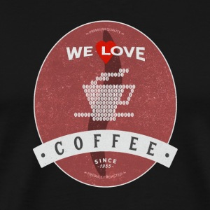 We Love Coffee - Koszulka męska Premium