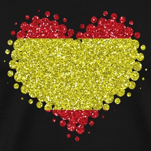 I love Spain - heart spanish pride home - Men's Premium T-Shirt