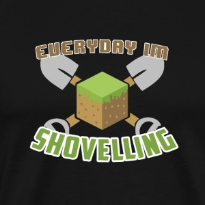 Everyday Jeg Shovelling - Premium T-skjorte for menn