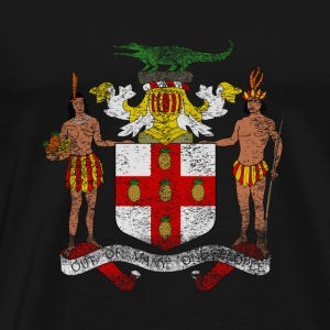 Jamaica Coat of Arms Jamaica Symbol - Men's Premium T-Shirt