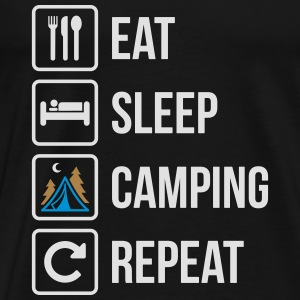 Eat Sleep Camping Repeat - Men's Premium T-Shirt