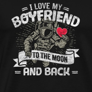 I Love My Boyfriend To The Moon And Back - Men's Premium T-Shirt