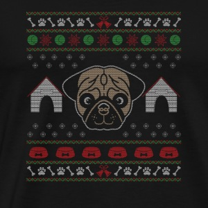UGLY CHRISTMAS SWEATER / Mops - Männer Premium T-Shirt