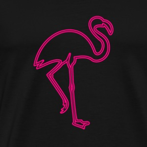 80s Retro Neon Sign Pink Flamingo - Männer Premium T-Shirt