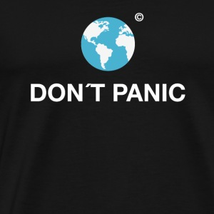 dont panic earth planet environmental save save eco - Men's Premium T-Shirt