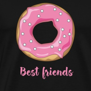 Donut favorite food sweet snack pink sugar lo - Men's Premium T-Shirt