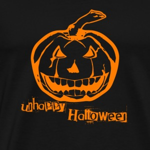 Unhappy Halloween Kürbis Face Pumpkin Happy Party - Männer Premium T-Shirt