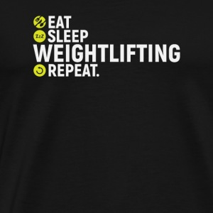 Eat, sleep, lift weights, repeat - Men's Premium T-Shirt