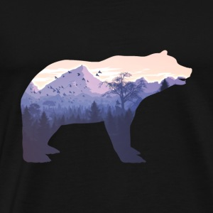 Gift för vandring Bear Mountain Forest Nature tält - Premium-T-shirt herr