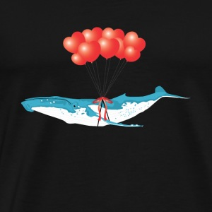 Gift heart for whales balloons animal protection - Men's Premium T-Shirt