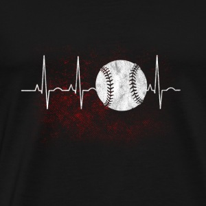 My heart beats for baseball gift - Men's Premium T-Shirt