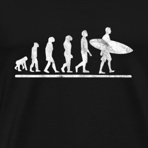 Evoltuition of surfing - Men's Premium T-Shirt