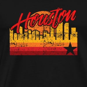 Houston Baseball Throwback Astro raita - Miesten premium t-paita