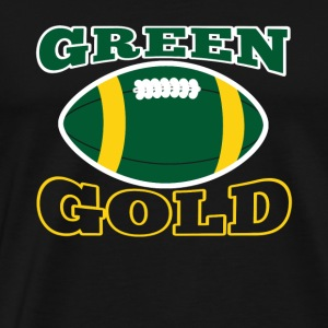 Groen en Gouden Green Bay Team Fan - Mannen Premium T-shirt