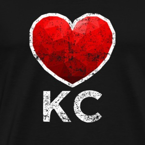 Kansas City Heart Tee Shirt Distressed - Men's Premium T-Shirt