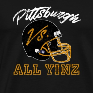 Pittsburgh Vs All Yinz Distressed - Männer Premium T-Shirt