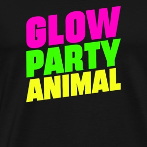 Glow Party Animals Bright neon colors fun - Men's Premium T-Shirt