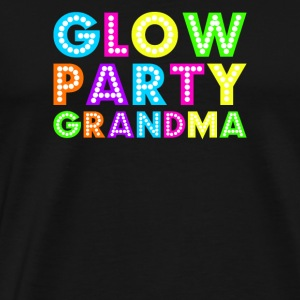 Glow Party Oma - Mannen Premium T-shirt