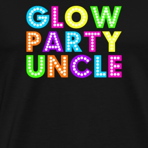 Glow Party Onkel - Premium T-skjorte for menn