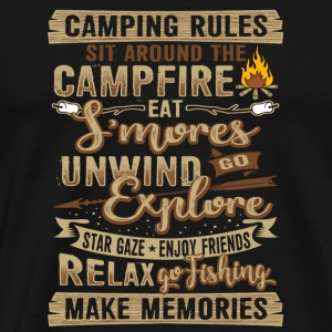 Camping tents fire rules gift - Men's Premium T-Shirt
