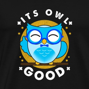 Dens Owl Owl god gave - Premium T-skjorte for menn