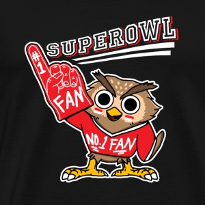 Superowl Super Bowl Number 1 Fan - Premium-T-shirt herr