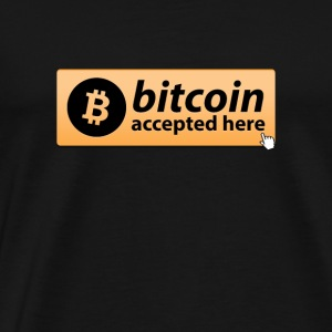 BITCOIN ACCEPTED HERE MOUSE BUTTON CRYPTO - Männer Premium T-Shirt