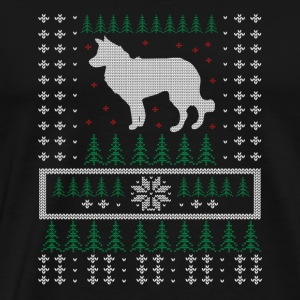 Border Collie Ugly Xmas Sweater Gift Christmas - Men's Premium T-Shirt