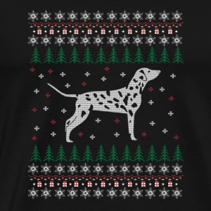 Dalmatian Ugly Xmas Sweater Gift Christmas - Men's Premium T-Shirt