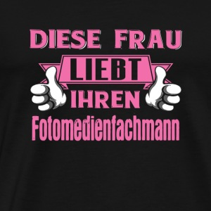 Fotomedienfachmann Profession Love gift - Men's Premium T-Shirt