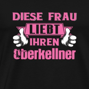 Oberkellner profession love gift - Men's Premium T-Shirt