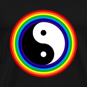 Yin And Yang Rainbow Chinese Tai Chi Symbol