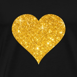 Golden heart love valentines day couple gift