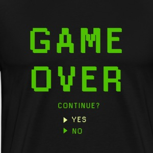 Game Over. Continue? YES - NO - Men's Premium T-Shirt