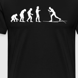 Human Evolution COUNTRY SKIDÅKNING - Premium-T-shirt herr