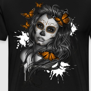 Day of the Dead Sugar Skull Girl - Men's Premium T-Shirt