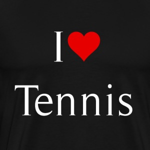 I love tennis - Men's Premium T-Shirt