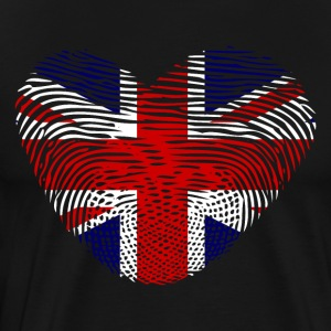 Fingerprint heart DNA UK GB - Men's Premium T-Shirt