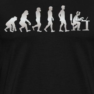 Det er bare evolution - Gamer! - Herre premium T-shirt