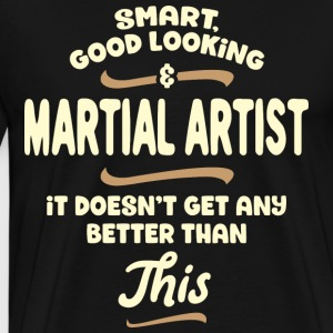Intelligent, handsome and combat ... - Men's Premium T-Shirt