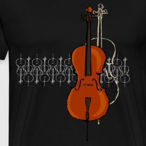 Cello Design 2 lyse - Premium T-skjorte for menn