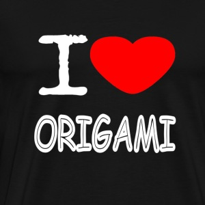I LOVE ORIGAMI - Men's Premium T-Shirt