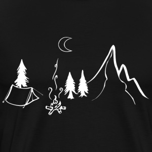 Camping telt Natur Mountains Vacation - Herre premium T-shirt