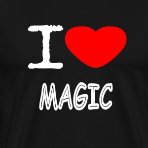 I LOVE MAGIC - Herre premium T-shirt