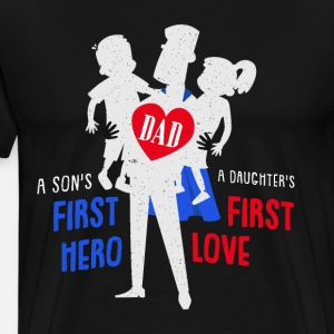 Cool Super Dad lahja Son and Daughter Tee Shirt
