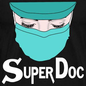 Hospital Doctor Super Doc Sykepleier ER Surgery - Premium T-skjorte for menn