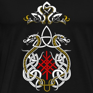 dragons triquetra viking - T-shirt Premium Homme