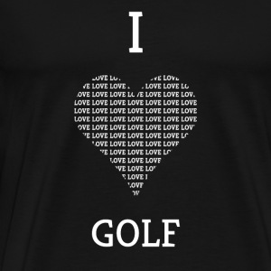 I LOVE GOLF - Herre premium T-shirt